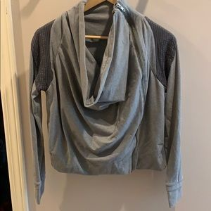 Lululemon cowl neck side zip bomber